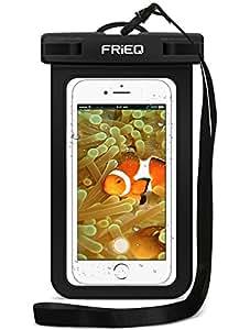 FRiEQ Custodia impermeabile per telefoni cellulari, Compatibile con Apple iPhone 6s, 6, 5s, 5c, 5, Galaxy S6, S3, HTC One X, Galaxy Note 2 - Certificazione IPX8 di impermeabilità fino a una profondità di 100 piedi