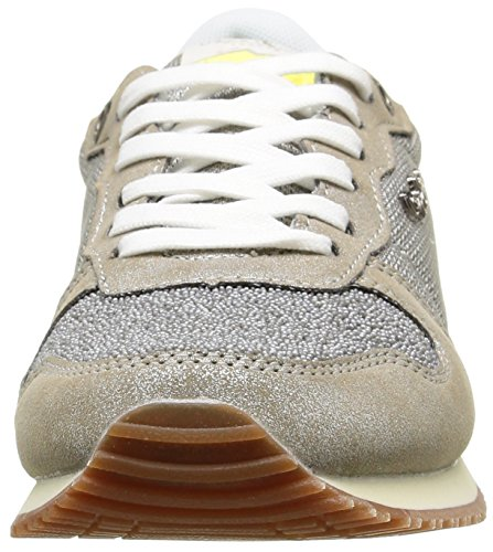 Pepe Jeans Gable Caviar, Baskets Basses femme Argent (934 Silver)