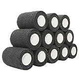 COMOmed Tissus non tissés pansement bandage pansements adhésifs Bandage animal ,Bandage auto-adhésif élastique 7.5 cm X4.5m noir 12 Volume