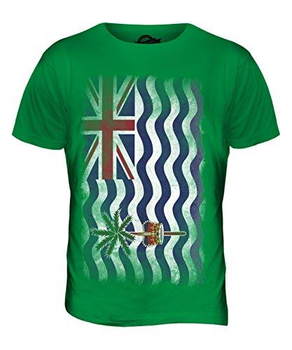 CandyMix Britisches Territorium Im Indischen Ozean Verblichen Flagge Herren T Shirt Grün