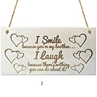 LEEDY Romantic Rectangular Hanging Plaque Wooden Plaque Wall Plaque Gift Plaque Pendant Family Friendship Love Sign Wine Tags Decor, Baubles Pendant Ornament Decorations Accessories