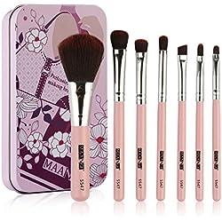 Nouveau 7 pièces de Maquillage Brosse Set,WUDUBE Tools Make-Up Kit de Toilette Laine Make up Pinceau Ensemble