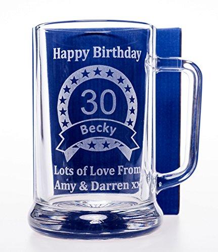 Grabado/personalizado Pub cerveza cumpleaños jarra regalo para 18th/21st/30th/40TH/50TH/60th