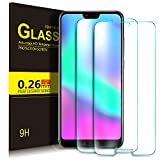 Honor 10 Schutzfolie, KuGi 9H Panzerglas Hartglas Glas Display Schutzfolie [Blasenfrei] [HD Ultra] [Anti-Kratzer] Displayschutzfolie Displayschutz Screen Protector Für Honor 10 smartphone. Klar [2 PACK]