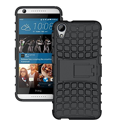 HTC Desire 626 626G+ - Stylish Heavy Duty Hard Back Armor Shock Proof Case Cover with Back Stand Feature & Free Screen Protector by Accessories Collection