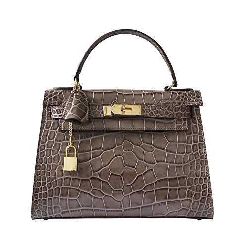 carbotti-bellino-patent-krokodildruck-leder-grab-handtasche-hochzeit-handtasche-nerz-braun