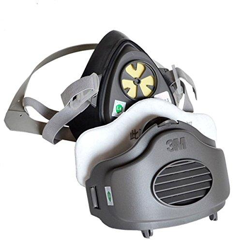 Sicherheit Atemschutzmaske Staub Maske 3M 3200N95pm2,5Hälfte Maskenkörper Wiederverwendbare Atemschutzmaske Gas Schutz Filter Atemschutzmaske Staub Maske mit 50Filter -