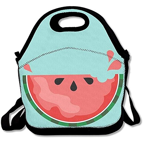 Watermelon Lunch Bag Insulated Tote Handbag Lunchbox Food Container Gourmet Tote Cooler Warm Pouch with Shoulder Strap for Women Teens Girls Kids Adults