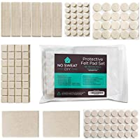 Furniture Felt Pads - Set of 128 Thick, Felt Pads for Furniture Feet with Adhesive. Includes A Variety of Felt Furniture Pad Sizes for Protecting Your Hardwood Floors.
