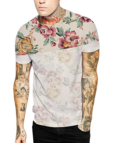 Pretty321-Men-Women-Universe-Galaxy-Stars-Nature-3D-Slim-Fit-T-shirt-Collection-EShombre-46-Slim-mujer-40-Slim-Ignore-Asia-Tag-Flowers-Floral-Style