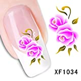 Dalin 3 D Nail Art Tips Stickers False Flower Nail Design Manicure Decals Nail Art Water Nail Art Decal / Tattoo / Sticker Xf1034
