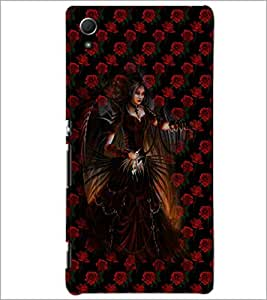 PrintDhaba Dark Angel D-4036 Back Case Cover for SONY XPERIA Z4 (Multi-Coloured)