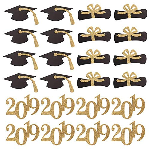 Abschlussfeier Dekoration Kuchendekoration Abschlussfeier Zubehör Kuchendeckel Abschlussfeier Karte 48PC