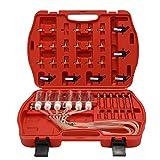 Festnight Diesels Accessoire Injecteur Outil de test de débitmètre Kit de testeur de carburant pour adaptateur de rampe commune 6 cylindre...