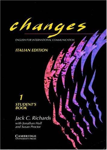 Changes. Student's book. Ediz. italiana. Per le Scuole superiori: 1