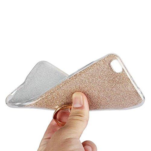 Soft Flexible TPU Back Cover Case Shockproof Schutzhülle mit Bling Glitter Sparkles und Kickstand für Xiaomi 5C ( Color : White ) Black
