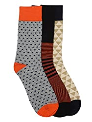 Hush Puppies Mens Crew Length Soft Combed Cotton Socks Pack of 3