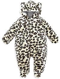 Highdas Printemps Automne Hiver Vêtements de bébé flanelle Vêtements pour Bébé Gar?on Cartoon animaux Jumpsuit Fille Baby Barboteuses Vêtements bébé