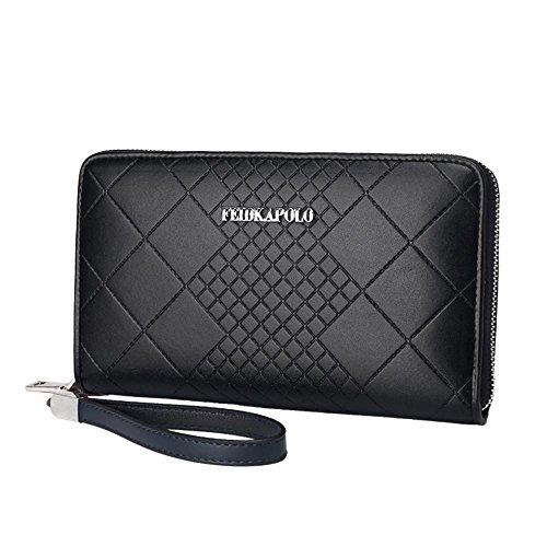 GBT Fashion Business-Männer Clutch Handtasche mit großer Kapazität Black