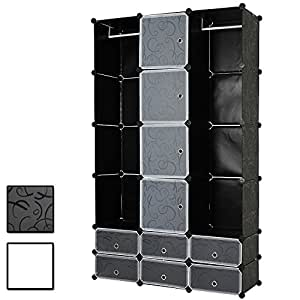 miadomodo regalsystem kleiderschrank w scheschrank gro z giger schrank mit 12 f chern b h t ca. Black Bedroom Furniture Sets. Home Design Ideas
