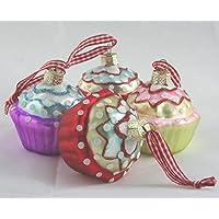 4 Decorazioni per Albero Cake,Addobbi per albero di Natale forma di muffin