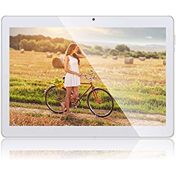 Padgene 10.1 Tablet PC Android 8.1 Quad Core HD Box Altavoz de Sonido con WiFi Bluetooth 4.0 GPS 1280*800 2MP 5MP Ranuras Dual para Tarjeta SIM ...