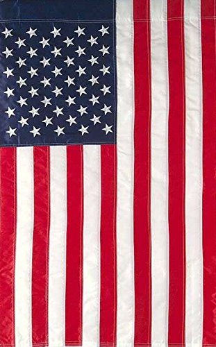 ASKYE American Flag Applique & Embroidered House Flag Stars & Stripes USA for Party Outdoor Home Decor(Size: 12.5inch W X 18 inch H) -