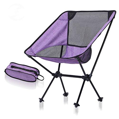 L&J Camping Chaises Pliantes, Lightweight Portable Plein Air Chaise Stabilité Alliage D'Aluminium Chaise De Pêche, Le Picnic Barbecues Peinture Croquis, Charge 150kg-B