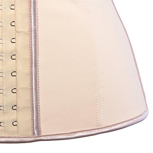 Damen Korsage Frauen Fitness Taille Cincher Korsett Shaper Bauchbänder Bustiers Aprikose A