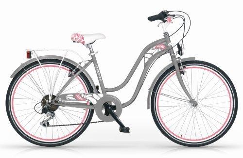 MBM TRENDY 24 WOMAN MUJER BICYCLE BIKE BICICLETA 6S CITY CIUDAD TREKKING GRIS