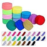 Ultnice fasce elastiche avvolgibili per capelli, confezione da 25 (colore casuale), 1 m