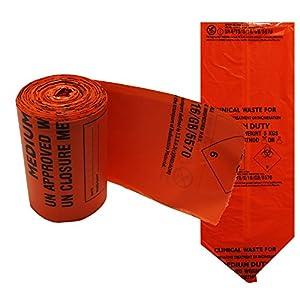 Orange klinischen Bio Hazard Medical Erste Hilfe Medium Duty Abfallbeutel Säcke, 5kg