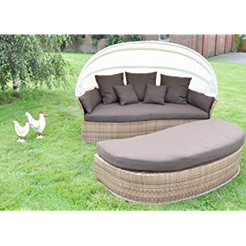 Amazon.de: VENUS LOUNGE Sonneninsel Sofa Gartenmöbel Liegeinsel ...