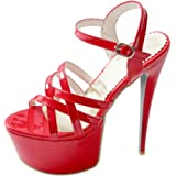 Zanpa Damen Mode Stiletto High Heels Sandalen