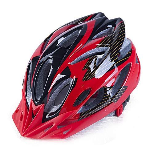 Y-YT Fahrradhelm Fahrrad Mountain Road Bike Reithelm atmungsaktiv verstellbar mit Sicherheit Kappe 57-62cm