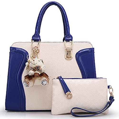 ladies-designer-leather-handbag-celebrity-tote-panda-shoulder-satcel-faux-bag-blue