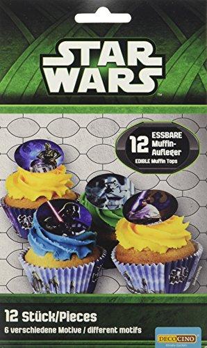 Dekoback Essbare Zucker-Muffinaufleger Star Wars, 1er Pack (1 x 11 g) (Dekorationen Wars Star Cupcake)