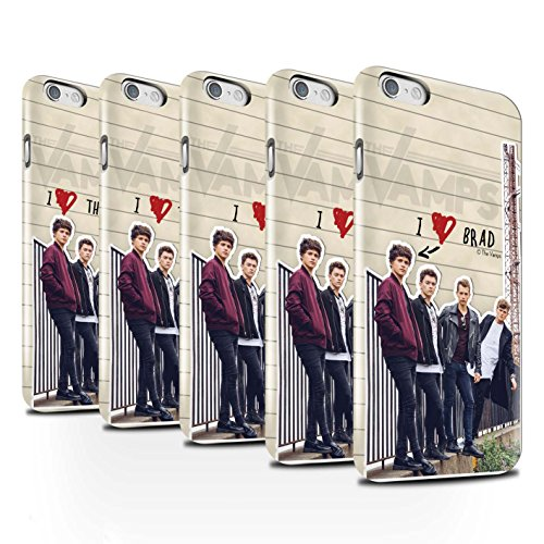 Offiziell The Vamps Hülle / Glanz Snap-On Case für Apple iPhone 6S / Pack 5pcs Muster / The Vamps Geheimes Tagebuch Kollektion Pack 5pcs