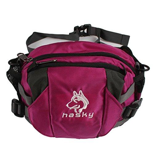 Outdoor peak Unisex Nylon wasserabweisend Multifunktions-Tasche Messenger Bag Gürteltasche Fahrradrucksäcke weich Reisetasche Sportrucksack Camping Rot