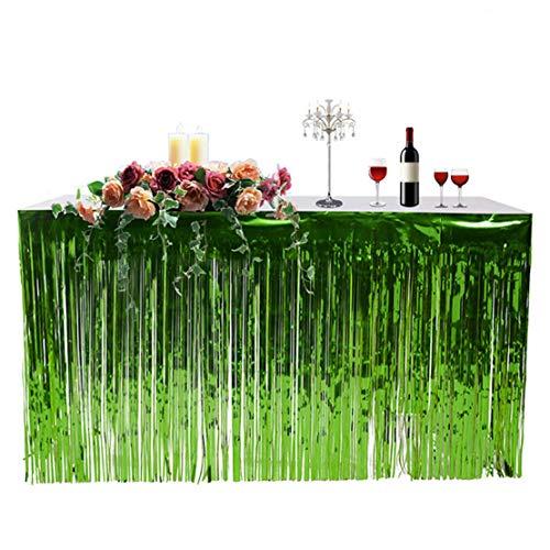 Wetry 2pcs Tischrock Party Dekoration Fransen Tabelle Vorhang Grillen Pool Halloween Geburtstag Jahrestag Hochzeit Party Deko