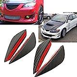Sedeta® 1Set/4Pcs Car Auto Fit Front Bumper Lip Splitter Fins Body Spoiler Canard Chin