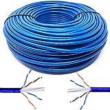 Mr. Tronic 100m Cavo di Rete Ethernet | CAT6, AWG24, CCA, UTP, RJ45 | Bobina di Rete (100 Metri, Blu)