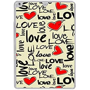 Casotec Love Hearts Design 2D Hard Back Case Cover for Apple iPad Air - Clear