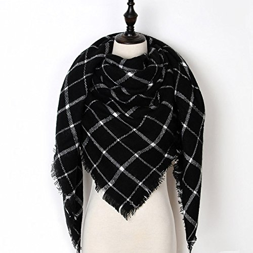 New Product New Fashion Winter Scarf Women 2018 Triangle Warm Plaid Scarf Luxury Brand Ladies Cashmere Scarves and Shawls Drop Shipping