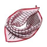 Donna Stampato Seta Foulard Quadrato fazzoletto da collo Donne Piccolo Sciarpa Seta Vintage Bandana Collo Sciarpa Taglia 53*53cm