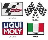 LIQUI MOLY MOTO GP ITALIA Aufnäher Aufbügler Patch 4 Stück TURBOVERSAND