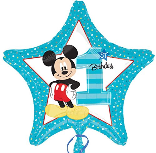 Amscan International 8.721.092,5 cm Mickey Mouse 1. Geburtstag Standard Folie Ballon