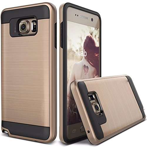 Kapa Dual Layer Shockproof Brushed Back Case Cover For Samsung Galaxy Note 5 - Gold