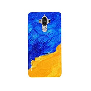 iSweven Twirls_Of_Brown design printed matte finish multi-colored back case cover for Huawei Mate 9