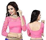 Bollywood Readymade Stitched Free Size Saree Blouse,Fertige Saree Bluse,Partywear Ready Crop Top, Indische,Hochzeit, Kleid - 105 (Light Pink)